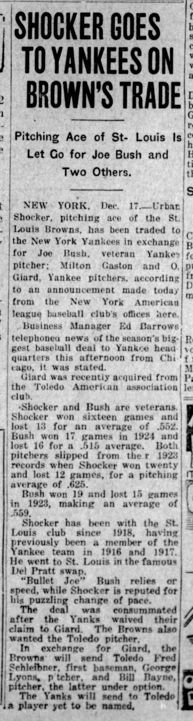 lyons traded to toledo dayton_herald_dec_17__1924_