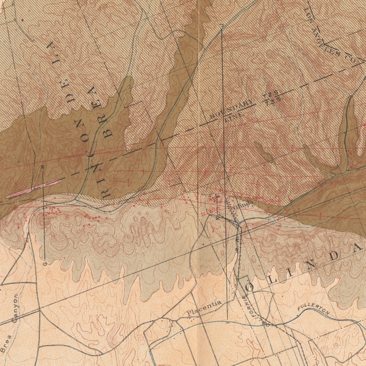 Olinda detail Puente Hills oil map 1906