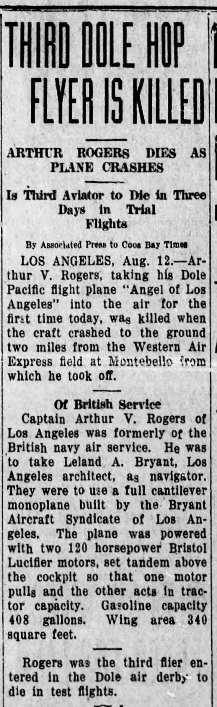 Crash The_Coos_Bay_Times_Fri__Aug_12__1927_