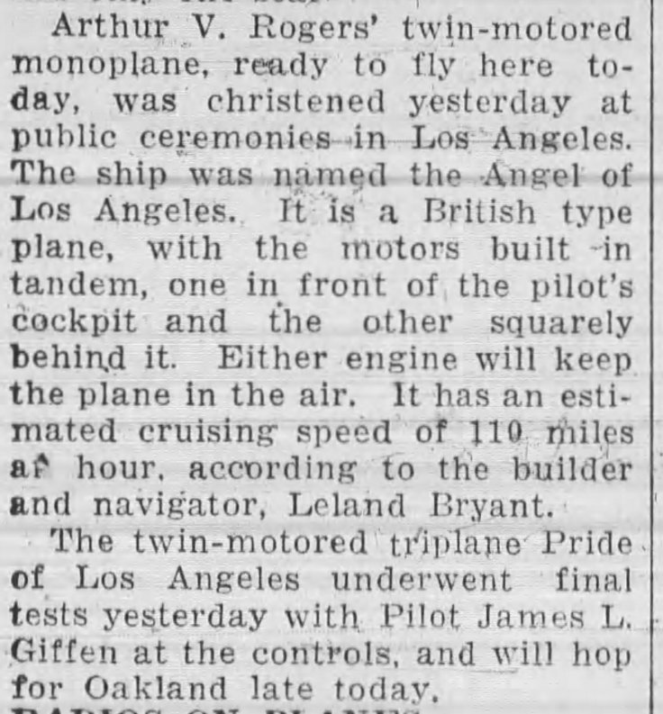 Mention plane in race prep Oakland_Tribune_Wed__Aug_10__1927_