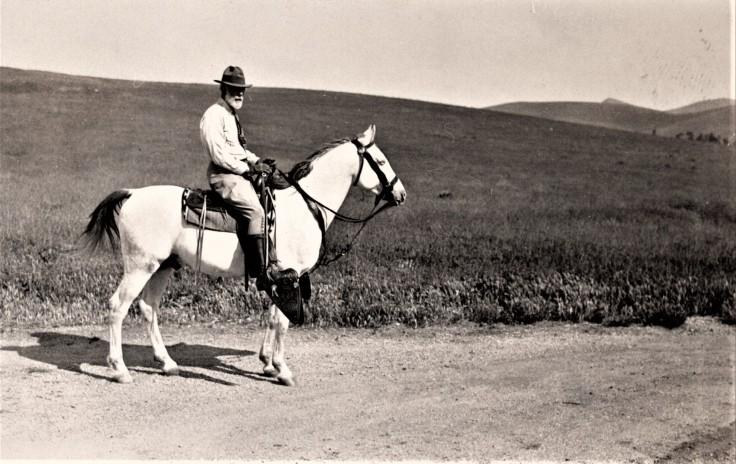 Albert W. Harris on Khaled Anazel Ranch Chino Hills 1933