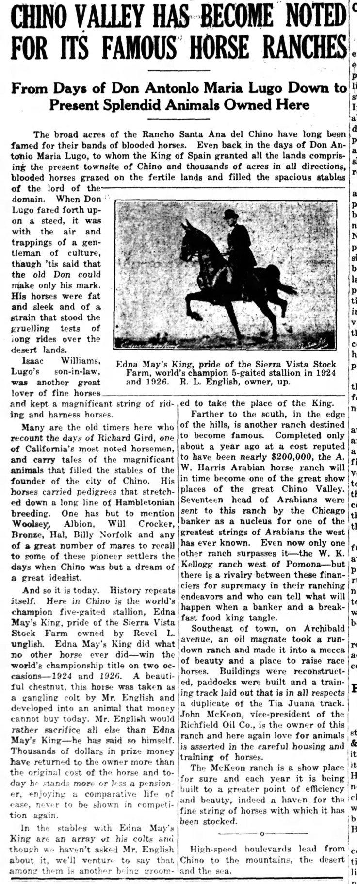 Horse ranches Chino_Champion_Nov_12__1929_
