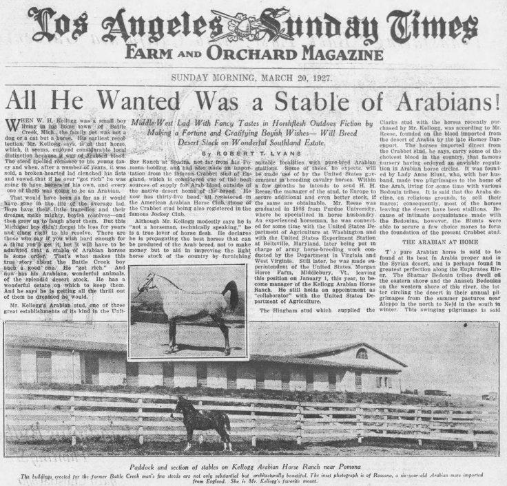 Kellogg Arabians LA_Times_Mar_20__1927_