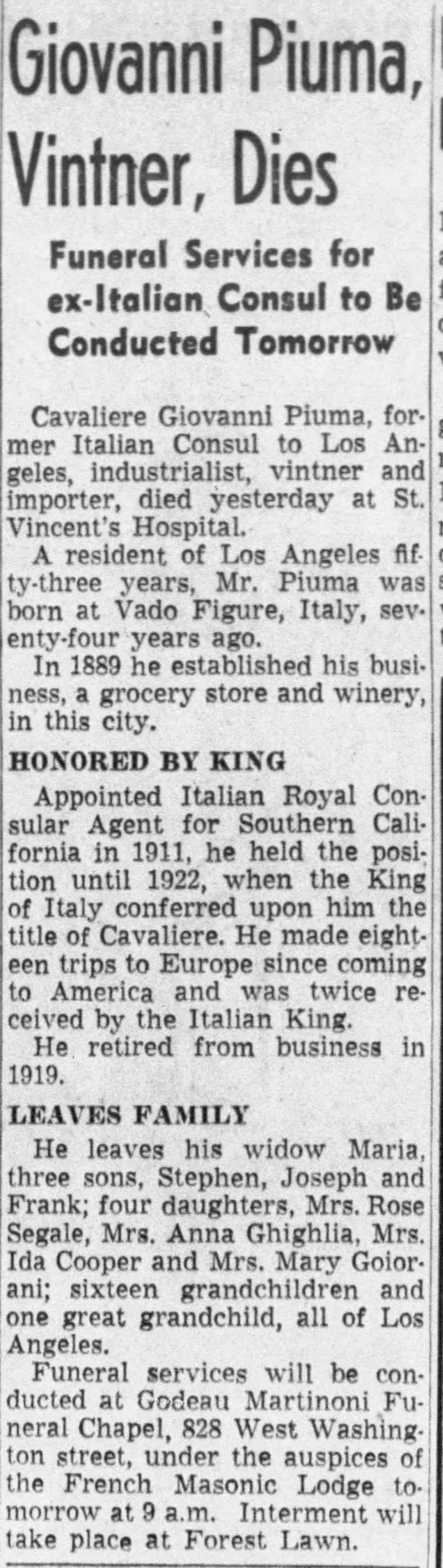 Piuma obit The_Los_Angeles_Times_Thu__Jun_23__1938_