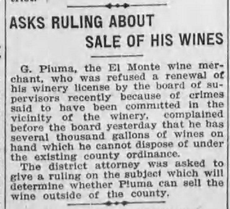 Piuma Old Mission license revoked Los_Angeles_Herald_Wed__Jul_6__1910_