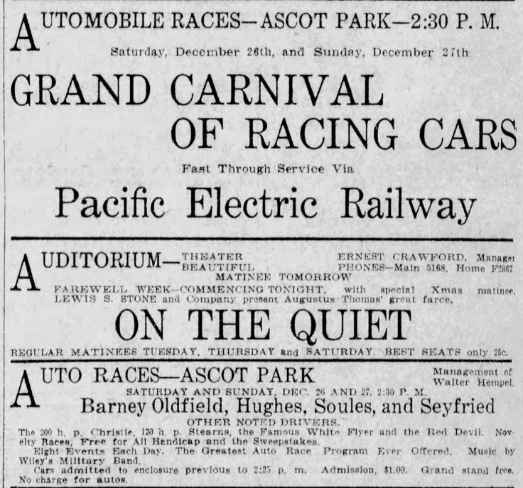 Ascot auto race ad Los_Angeles_Express_Thu__Dec_24__1908_