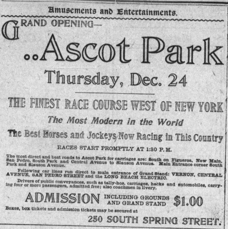 Ascot Park ad The_Los_Angeles_Times_Sun__Dec_20__1903_
