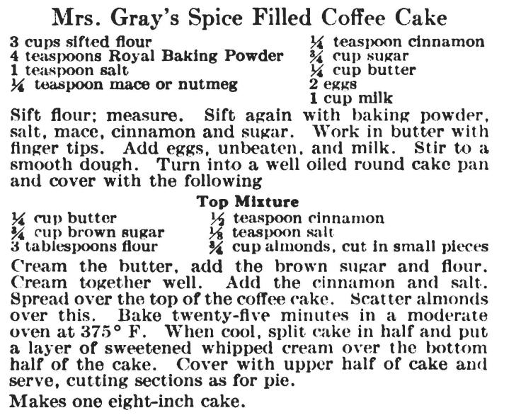 coffe cake recipe