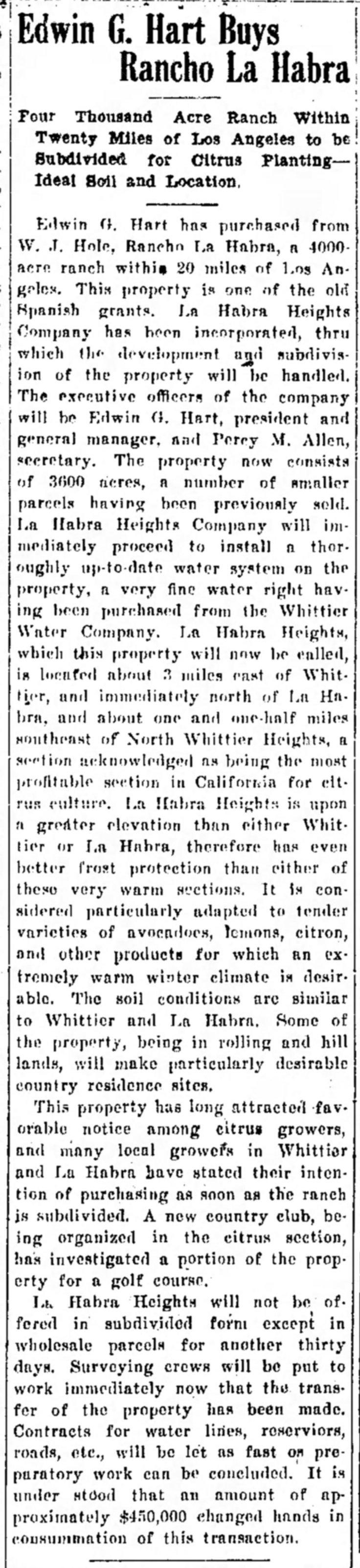 Hart buys LHH site Covina_Argus_Fri__Aug_1__1919_